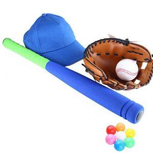 Tbaobei-Baby Gants de Base-Ball Enfants Baseball Combo Set Gants Pitcher Chapeau Batte de Baseball et de Baseball Équipement de Sport 9,5 Pouces Gants Pitcher Baseball Gants de Sport frappeurs
