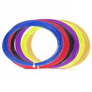 Tbest 2Pcs Cordes Badminton, 10 m de Nylon Durable, Raquette de Badminton à Haute Flexibilité, Ligne Rouge, Bleu, Noir, Vert Fluorescent, Violet, Jaune(Noir)