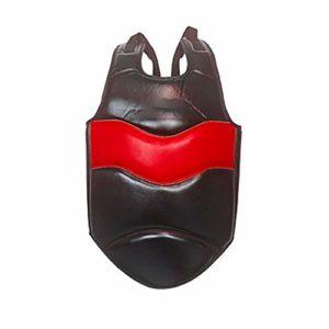 Torse Cuir Garde du Corps De Boxe Protecteur d'arts Martiaux Taekwondo Équipement De Protection Protecteur du Sein (Color : Red, Size : S)