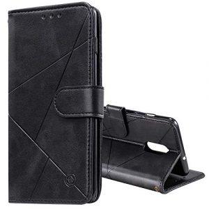 Tosim Coque OnePlus 7 / 6T, Portefeuille Étui en Cuir Synthétique Fonction Stand Case Housse Folio à Rabat Compatible avec OnePlus7 / Oneplus6T – TOHHA150577 Noir