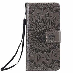 Tosim Coque Sony Xperia Ace, Portefeuille Étui en Cuir Synthétique Fonction Stand Case Housse Folio à Rabat Compatible avec Sony Xperia Ace – TOKTU020890 Gris