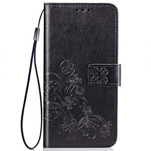 Tosim Coque Xiaomi Redmi Note 8T, Portefeuille Étui en Cuir Synthétique Fonction Stand Case Housse Folio à Rabat Compatible avec Xiaomi Redmi Note8T – TOSDA042145 Noir