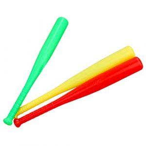 TOYANDONA 3 Pcs en Plastique Batte de Baseball Jouet pour Enfants Garçon Enfants Sports de Plein Air Thème Fête Faveurs Cadeau Rouge Jaune Vert