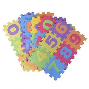 TOYANDONA 36 Pièces Bébés Alphabet Mat Numéro Eva Puzzle Tapis Tapis de Sol en Mousse pour Les Tout-Petits Enfants Enfants