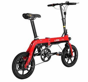 TX Vélo électrique Pliant Alliage Batterie Urbaine Longue durée au Lithium 36V Taille Mini,Red