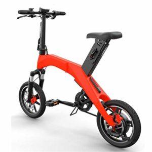 TX Vélo électrique Pliant Alliage d'aluminium de qualité aéronautique de Voyage en Ville 30 km 22kg,Red