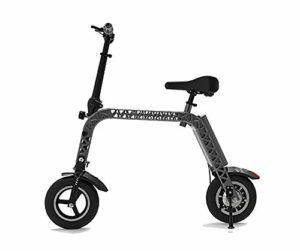 TX Vélo électrique Pliant Taille Mini avec siège Enfant, paramètre de Vitesse mètre Roues de 10 Pouces 12,8 kg, Version Sport Endurance 30 km,Black