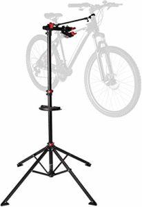 Ultrasport Support de montage pour vélos Expert, convient également pour les VTT – Stand de réparation pour les vélos ne dépassant pas 30 kg, avec des fonctions utiles pour laréparation des vélos