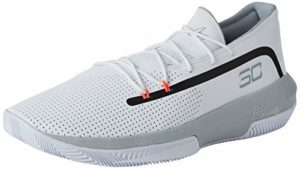 Under Armour UA SC 3ZER0 III, Chaussures de Basketball Homme, Blanc (White/Mod Gray/Mod Gray (100) 100), 51.5 EU