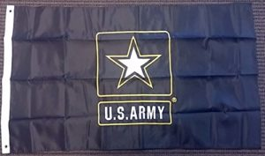 United States Army étoile double face en nylon brodée 0,9x 1,5m Drapeau Bannière USA
