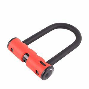 Vélo Antivol en U Voiture électrique de verrouillage de sécurité antivol double serrure ouvert U-lock moto de verrouillage vélo de route de verrouillage ( Couleur : Rouge , Taille : Taille unique )