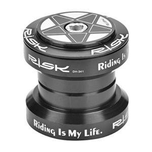 Vélo de Route Casque CNC Direction de Vélo Externe scellé Roulement Haute Précision en Alliage D'aluminium 34mm pour Cyclisme Bicyclette Vélo de Montagne VTT MTB (Noir)