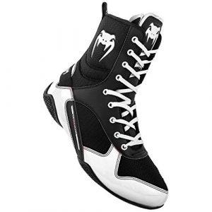Venum Elite, Chaussures de Boxe Mixte Adulte, (Noir/Blanc 108)), 42 EU