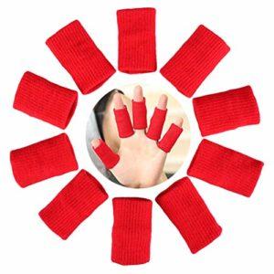 VerteLife 10 Pièces Manchons à Doigts Protège-Doigts Manchons de Protection pour Doigts, Soutien de Doigt pour Sports Soulager la Douleur Callosites Arthritis Knuckle