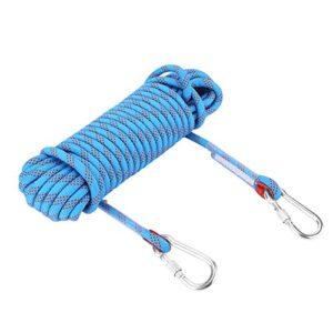 VGEBY Paracorde Escalade Corde Parachute de Survie 12mm Anti-déchirures pour l'Extérieur Camping (Bleu Taille : 20m)…