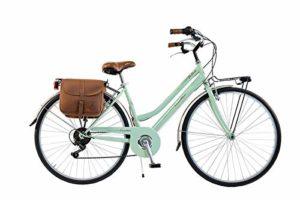 Via Veneto by Canellini Bici Vélo Citybike Byciclette CTB Femme Dame Vintage Retro Via Veneto Acier (Vert Clair, 46)