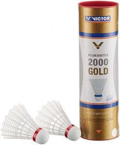 Victor International Nylonball Shuttle 2000, Volants badminton, Multicolore (Rot/Weiß), Lot de 6