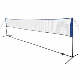 vidaXL Filet de Badminton avec Volants Multicolore Sport Jardin 600 x 155 cm