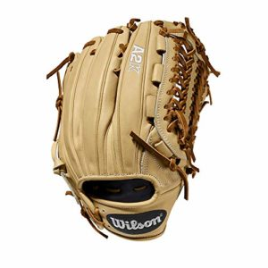 WILSON A2K Gants de Baseball, Mixte Adulte, Gant de Baseball, A2K D33 11.75″ Pitcher's Baseball Glove, Blonde/Saddle Tan – Pitcher's Model, 11.75″