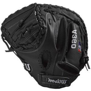 WILSON A360 Gants de Baseball Unisex-Youth, Black, 31.5 inch