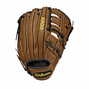 Wilson A900 Gants de baseball Men's, British Tan/Black, 12.5 inch