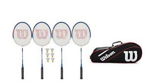 WILSON Hyper Zone/Power Raquette de Badminton + Advantage 3 Sacs + 6 Volants (différentes Options)