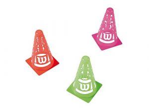 Wilson Set de Cônes, Safety Cones, Lot de 6, Pvc, Couleurs assorties, WRZ259500