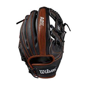 WILSON Sporting Goods 2019A2K 1787Champ Intérieur Gant de Baseball–Main Droite Couvre-lit Noir/cuivre/Noir SuperSkin, 29,8cm