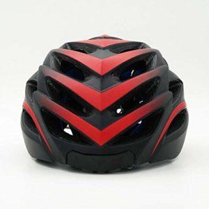 XIAOFENG-R Casque léger réglable Casque de vélo Multifonction Bluetooth Smart VTT Casque moulé Bluetooth Musique Casque de vélo Intelligente Protection de sécurité (Color : Red)