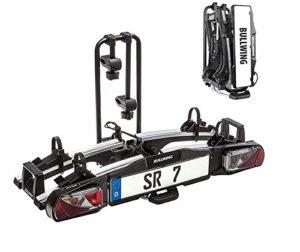 YRRA (Version 2020) remorque | Porte d'attelage Repliable pour 2 Adapté aux vélos électriques | Charge utile de 60 kg | Extensible avec Divers Accessoires