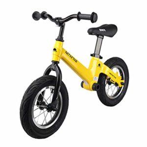 YZY Vélo d'équilibre de 12 Pouces, Alliage de magnésium sans pédale Vélo d'équilibre de Marche pour Enfants et Tout-Petits (Color : A)
