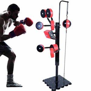 ZAIHW Punch Sac autoportant – Sac de Boxe autoportant avec Sac de Boxe piédestal Cible autoportant – Kicking Pads de Base Home Fitness, Multifonctions interactif de Remise en Forme