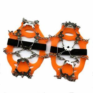 ZXCAM 19 Dents Crampons de Glace Universelles Glace Traction Antidérapant Grips Crampons pour Chaussures pour Alpinisme Marche Randonnée Jogging Escalade sur Neige Glace