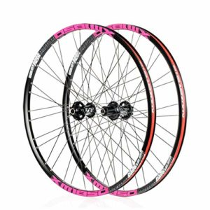 26″/27.5″ inch Mountain Bike Wheelset Frein à Disque 6 CLIQUET 72 Click Quick Release (Color : Pink, Size : 26″)