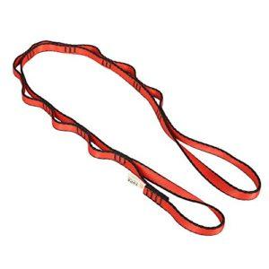 3kN Nylon Daisy Chain Corde Escalade Hamac Suspension Balançoire Yoga – rouge, 110cm