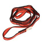 3kN Nylon Daisy Chain Corde Escalade Hamac Suspension Balançoire Yoga – rouge, 110cm