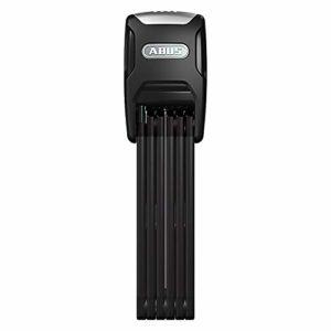 Abus Bordo Alarm 6000A/90 + Support SH Black Antivol Pliable pour vélo Mixte Adulte, Noir, 90 cm