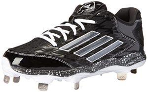 adidas Performance pour Femme PowerAlley 2W Softball Taquet – Noir – Black/Carbon/White,