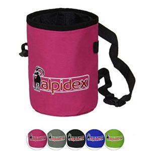 ALPIDEX Sac à magnésie HIGHFLY avec Ceinture, Farbe Alpidex:Pink Power