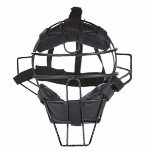AMAIRS Casque De Baseball, Masque De Protection Sportive De Baseball Softball Masque De Frappe De Baseball Support en Acier Plaque De Masque De Protection,Noir