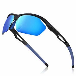 Avoalre® Lunettes de Soleil Sport Homme Lunettes de Vue Femme Unisexe Polarized Conduit TR90 Super Léger Protection UV400 CE Certifié – Bleu