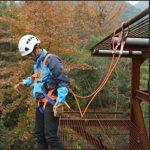 Baoblaze Longe De Sécurité Arboricole Corde avec Crochet à Mousqueton Longe de Protection Antichut Longe d'escalade – Orange, A Type 1.6m