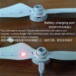 Bescita 1 hélice Compatible avec DJI Phantom 3 Pro & ADV LED Flash Propeller USB Rechargeable