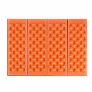 BESPORTBLE 2pcs Tapis de Coussin de siège en Mousse xpe rembourré siège imperméable à l'humidité de Coussin résistant à l'humidité avec Sac de Rangement pour Camping Parc de Pique-Nique (Orange)