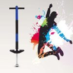 Biuzi Jackhammer Jump Stick, 1Pc Pogo Stick Single Bar Jackhammer Jump Stick Sports Jouets Éducatifs pour Enfants(Bleu)