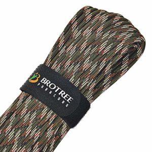 Brotree Paracorde 550 Corde de Parachute 9 Brins en Nylon Corde de Survie (Standard, Réfléchissante)