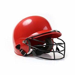 Casque de Baseball Casque de frappeur Protection binaurale sécurité Ventilation Anti-Impact réglable Pas Facile à Tomber adapté aux compétitions Sportives pour Les Jeunes