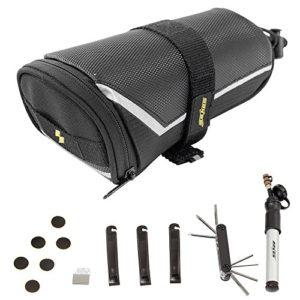Docooler Sahoo Kit de Réparation Vélo Crevaison pour Vélos et Pompe Kit de Réparation de Pneu 7 en 1 Multi-outil Accessoires Vélo Sacoches