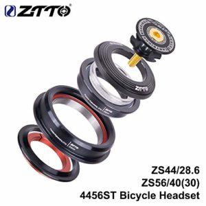 ETbotu Jeu de Direction CNC ZS44 / ZS56 VTT, Casque pour vélo de Route, Fourche Conique Set de roulements pour vélo sans Filetage Interne