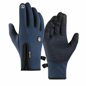 Gants écran Tactile Gants Sports d'extérieur Chaud imperméable Taille réglable Gants d'hiver pour la Course à Pied, Le vélo, Le Ski, la randonnée, la Chasse, l'escalade, Le Camping